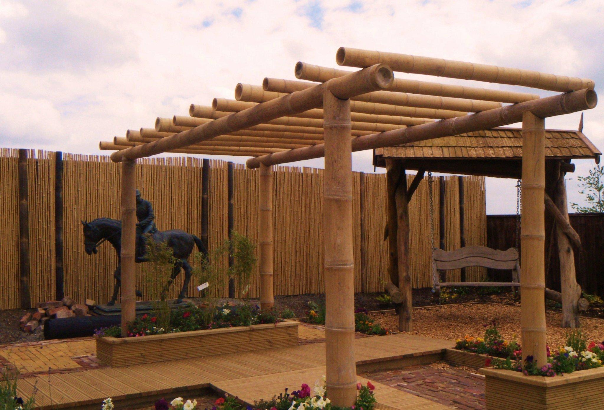 Domestic installations - Pergola bambu ...